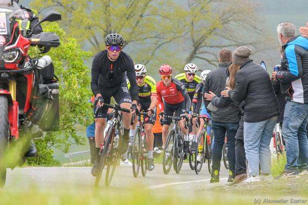 1. Bergwertung (gewinnt Pirmin Benz von Rad Net Rose Team)