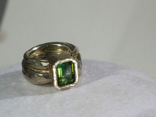 Ring mit Turmalin, Silber - verkauft © Vivien Reig-Atmer
