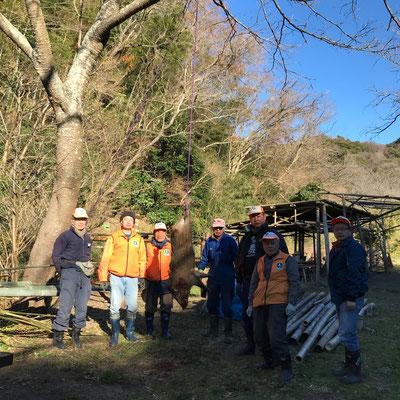 12月31日、二子山山系自然保護協議会+葉山わな猟の会