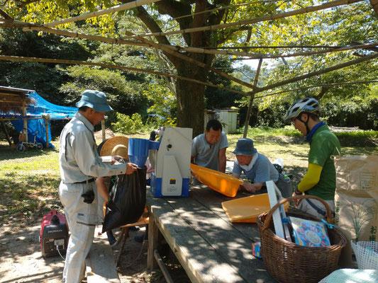 7月25日、上山口寺前谷戸復元プロジェクト