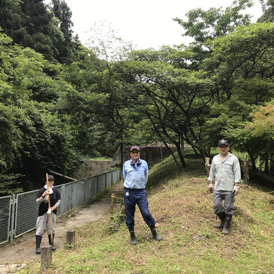 6月26日、イノシシ被害対策プロジェクト+大沢谷広場プロジェクト