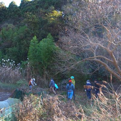 12月20日、上山口寺前谷戸復元プロジェクト