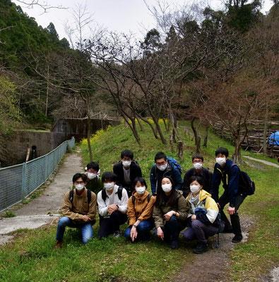 3月25日、イノシシ被害対策プロジェクト+大沢谷広場プロジェクト+明治大学農学部応用植物生態学研究室