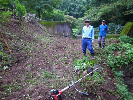 9月4日、イノシシ被害対策プロジェクト+大沢谷広場プロジェクト