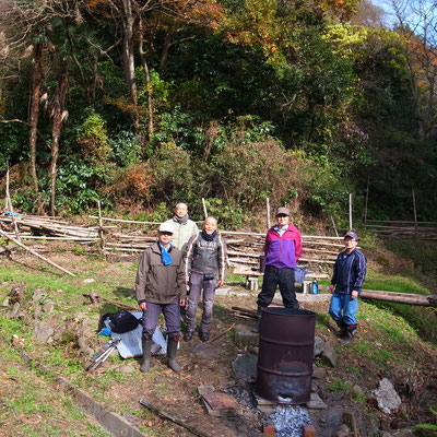 12月13日、イノシシ被害対策プロジェクト+大沢谷広場プロジェクト