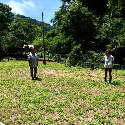 7月31日、イノシシ被害対策プロジェクト+大沢谷広場プロジェクト
