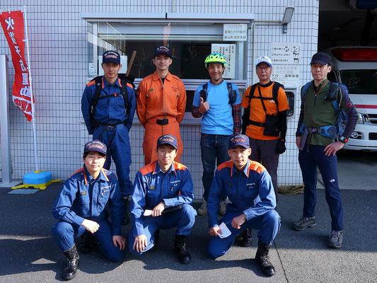 葉山消防署の皆さんとの集合写真