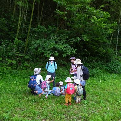 6月18日、大沢谷広場プロジェクト(青空共同保育つくしとたね)