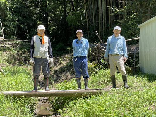 7月18日、イノシシ被害対策プロジェクト+大沢谷広場プロジェクト
