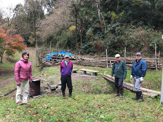 12月19日、イノシシ被害対策プロジェクト+大沢谷広場プロジェクト
