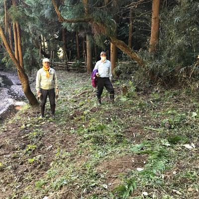11月28日、イノシシ被害対策プロジェクト+大沢谷広場プロジェクト