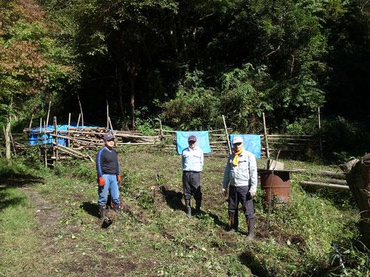 10月24日、イノシシ被害対策プロジェクト+大沢谷広場プロジェクト