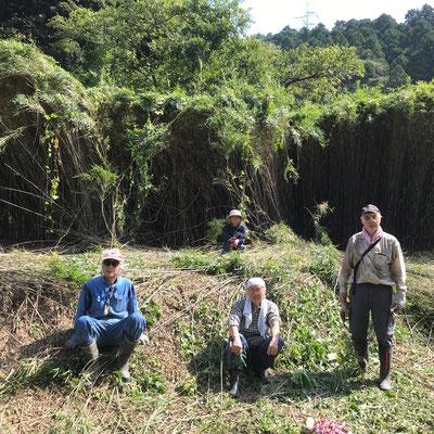 10月2日、イノシシ被害対策プロジェクト+農園管理プロジェクト