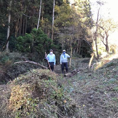 11月23日、イノシシ被害対策プロジェクト+大沢谷広場プロジェクト