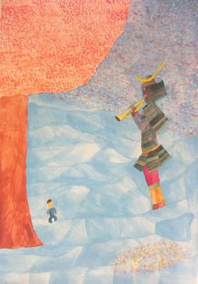2015 『未来へ』 ポコラート展Vol.6入選作品  51.5cm×36.4cm