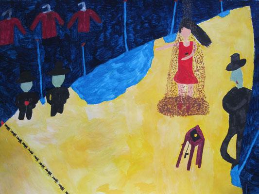 2011  『吸血鬼たちと女』 32cm×41cm