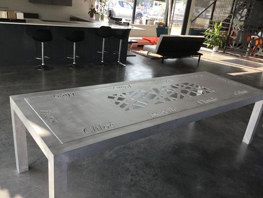 table sur mesure personnalisée