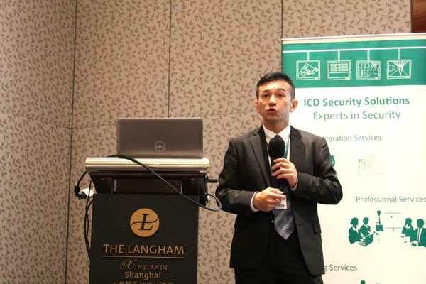 iSAP CEO Kelvin Wong presenting iSAP's solutions