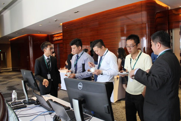 iSAP tech demo at the coffee break