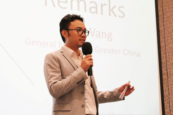 ICD Greater China General Manger, Tony Wang, makes closing remarks