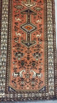 Tappeto tabriz carpet udine, tappeto misura corsia circa 4 metri nasir abad persiano