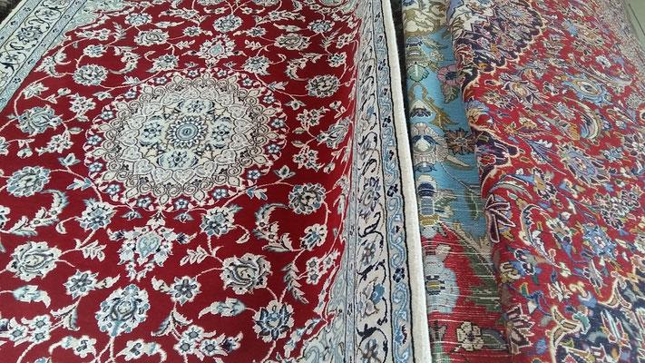 sconti tappeti persiani lavorazione extra fine udine, nain, tabriz, isfahan,