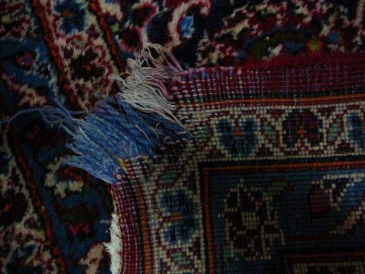 riparazione tappeto orientale-tappeto persiano kashan misura 250x350 da restaurare ancolo- tappeti persiani Udine