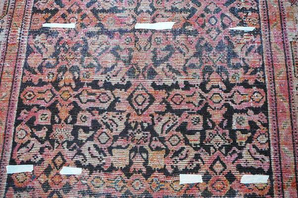 Tapeti Udine, restauro tappeti Udine-colorazione tappeto antico malayer consumato con usura