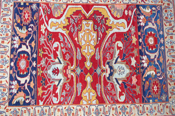 tappeti pregiati e particolari Udine- tappeto zare lavorazione extra fine con colori naturali ordinato e disegnato da sig. Javad