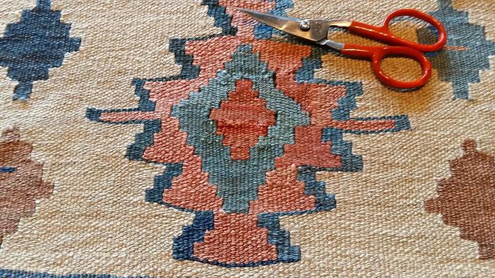 kilim dopo di restauro- tappeti tabriz carpet udine