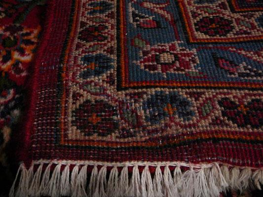 Restauro tappeti orientali Udine, tappeto kashan grande dopo di riparazione tabriz carpet Udine