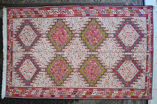 Tabriz carpet Udine- tappeto sumak fine tutto seta con simboli
