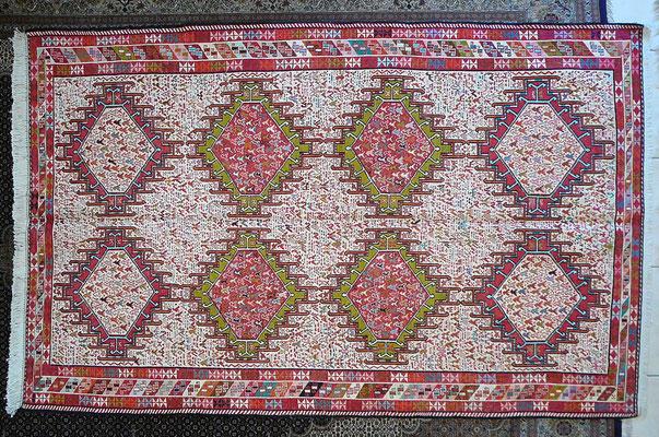 Tabriz carpet Udine- offerta tappeti udine,tappeto sumak fine tutto seta con simboli