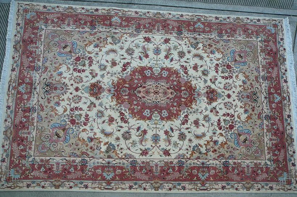 tappeto tabriz extra fine lana misto seta vari misura e colori