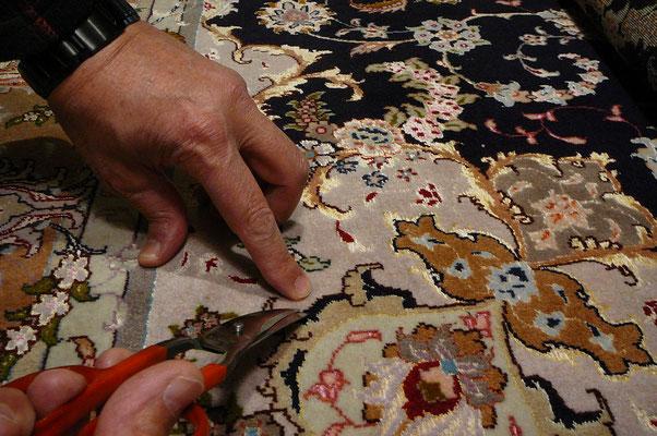 Tabriz carpet udine- tappeto Tabriz 60 raj lana misto seta extra fine, riparazione tappeti udine