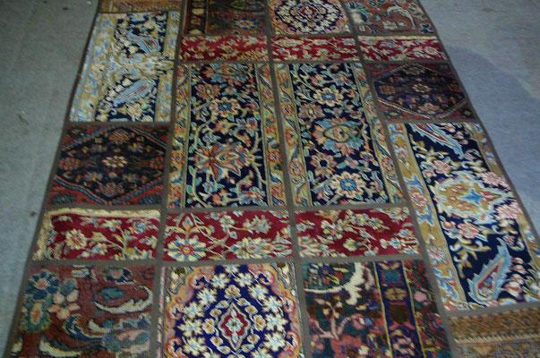 Vendita tappeti moderni udine, tabriz carpet importatore tappeti moderni, tappeto patchwork persiano