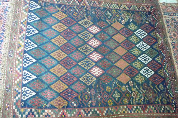 Tabriz carpet udine, tappeto antico importante sanjabi misura quadrato