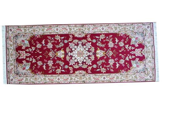 tappeto Tabriz extra fine lana misto seta misura corsia intressante misura 200x80