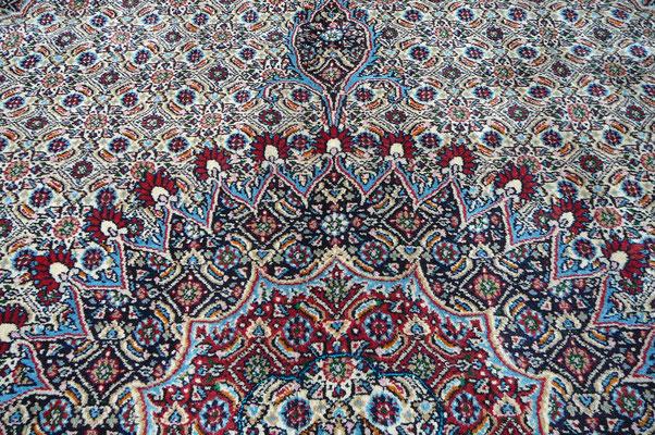 tabriz carpet, tappeto persiano mud lavorazione fine lana misto seta