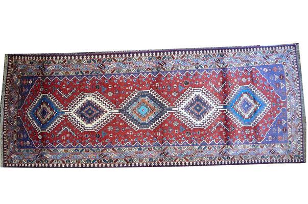 tappeto per coridorio udine-tappeto persiano Yalameh misura corsia con disegni geometrici vari misura e colori