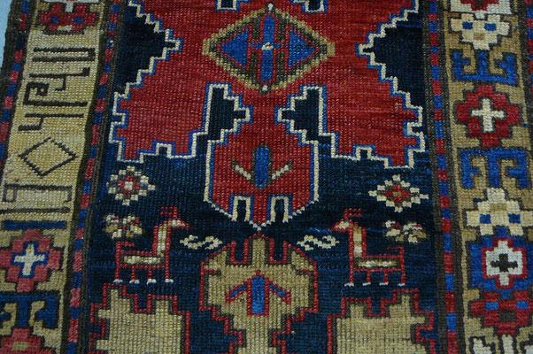 tappeto antico caucasico shirvan, tappeti antichi udine, tappeti importanti udine