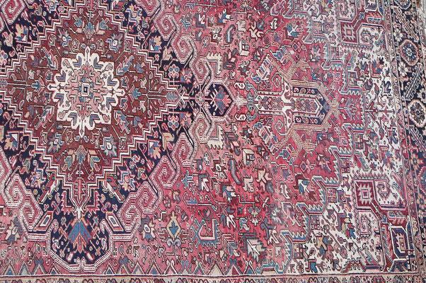 Tappeto Heriz persiano antico grande, tappeti tabriz carpet udine