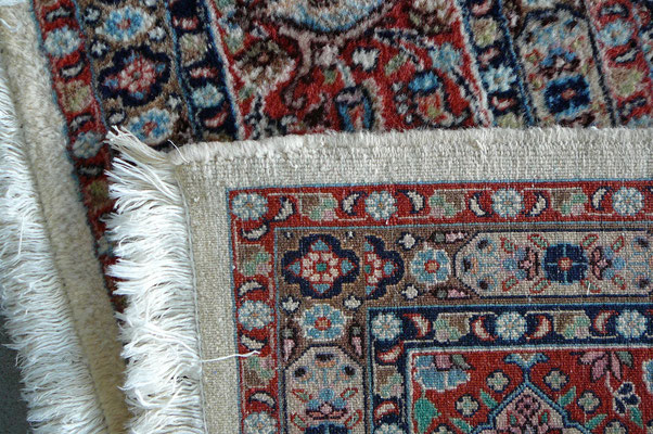Tappeti Udine-riparazione angolo tappeto persiano mud dopo di riparazione