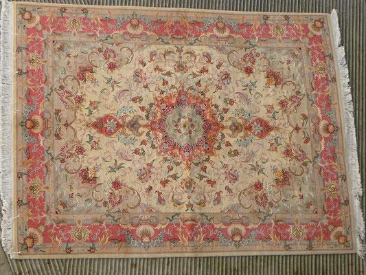 Negozio tappeti udine, tappeto Tabriz 60 raj lana misto seta extra fine, tappeto extra fine
