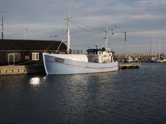 Winterimpression im Hafen von Sæby. Foto: C. Schumann, 2020