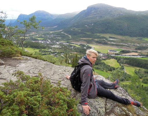 Hemsedal: Blick vom Berg Steget auf den Ort