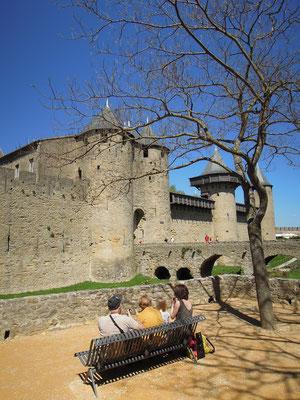 Die Burg von Carcassonne mit Museum