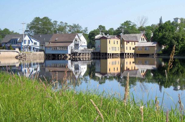 Künstlerdorf Bear River unweit von Digby im Nordwesten von Nova Scotia