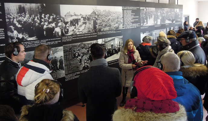Besuchergruppe in Auschwitz I. Foto: C. Schumannn, 2020