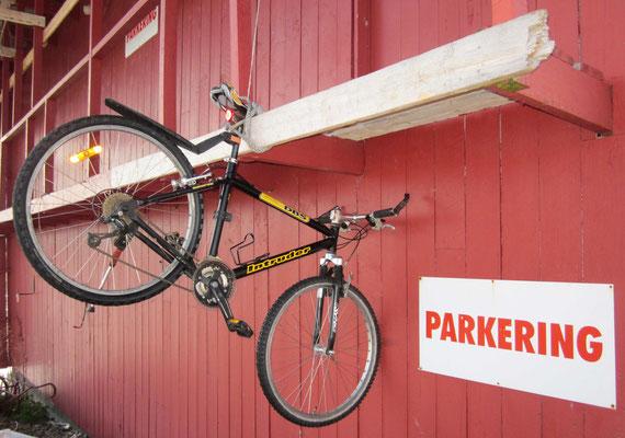 Fahrradparkplatz auf den Lofoten